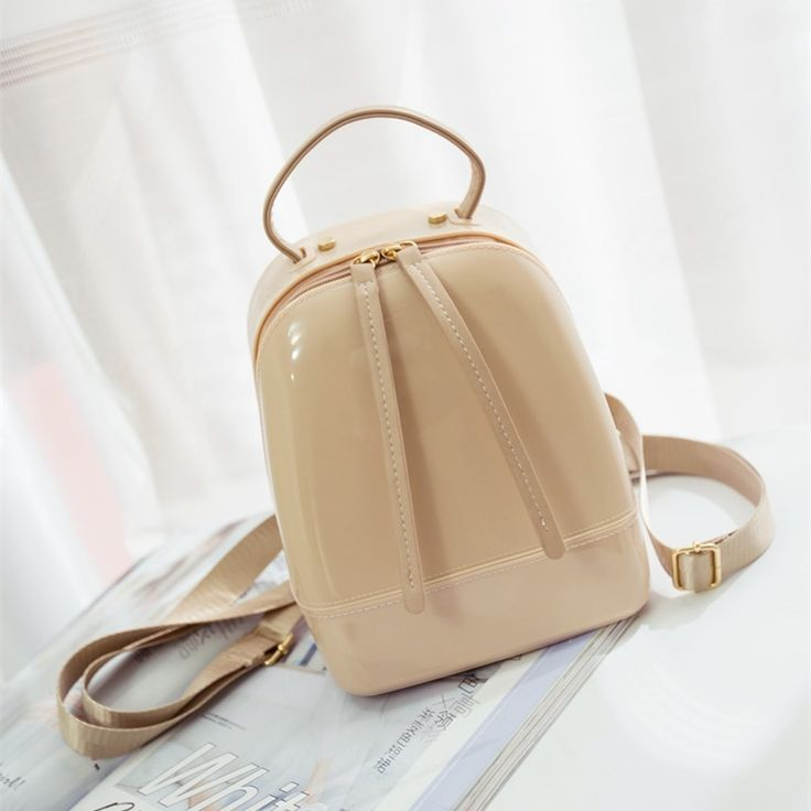 403.50$  Buy now - http://alir69.shopchina.info/1/go.php?t=32705232109 - 2016 Summer Fashion Furly Candy Backpack High Quality PVC Transparent Jelly Beach Bags Luxury Backpack Women Bags Designer 403.50$ #bestbuy