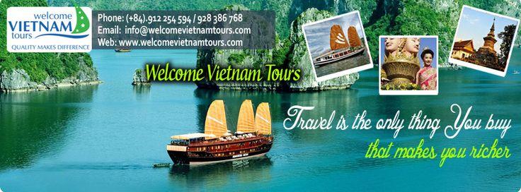 Book your #Vietnam adventure travel tour today!  Explore the delicious food, diverse culture & exhilarating landscapes that Vietnam offers backpackers. http://welcomevietnamtours.com/Vietnam-tours/1/vietnam-easy-tours.html