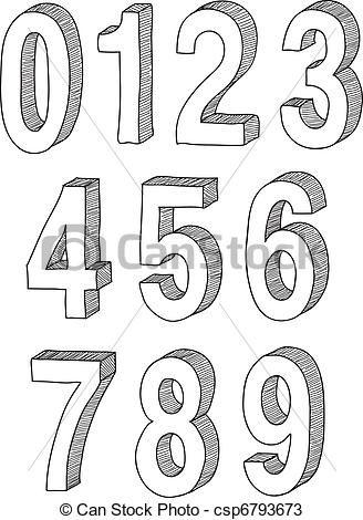 Zahlen In 3d