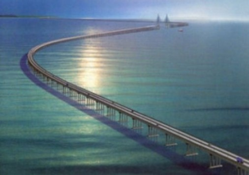 Lake Pontchartrain Causeway ~ I've been across this bridge on the water.   Very different experience...I don't like bridges...I never feel safe on them.