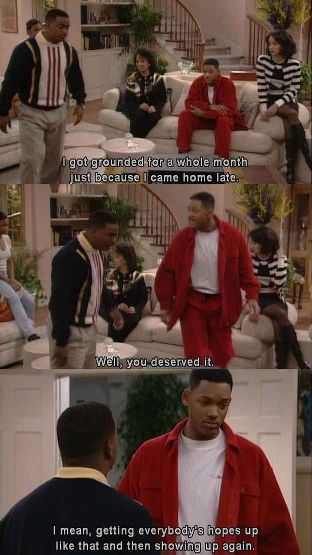 On curfews: | 30 Times The Fresh Prince Was The Wittiest Person On '90s TV