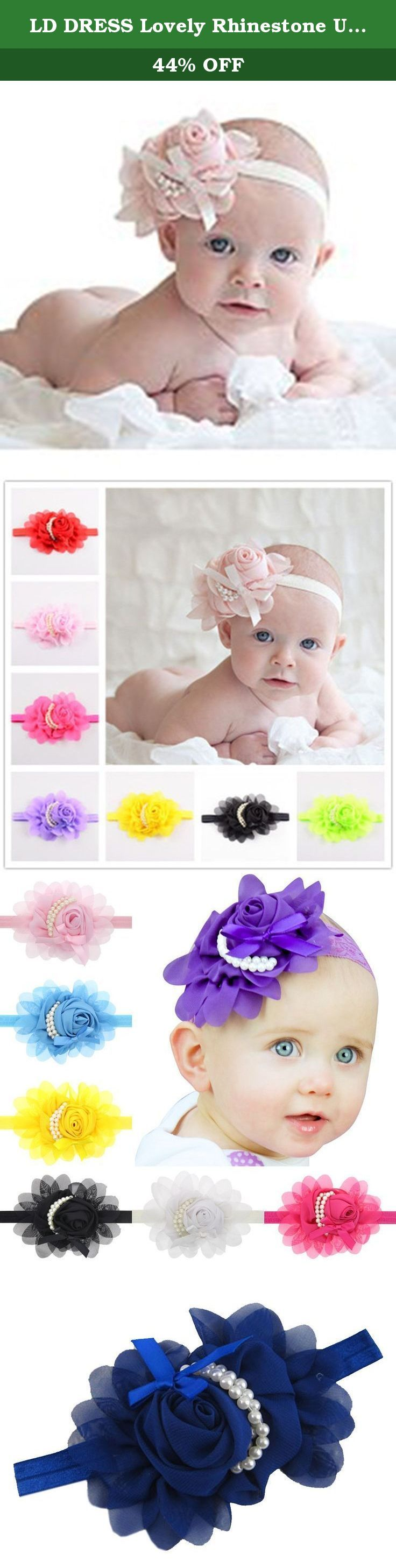 LD DRESS Lovely Rhinestone Unusual Angel Girls Baby Pearl Flowers Hairband Headbands (Navy blue). This is chiffon headband making, comfortable, simple yet elegant, made with elastic to bring your baby in a very pleasant surprise!.