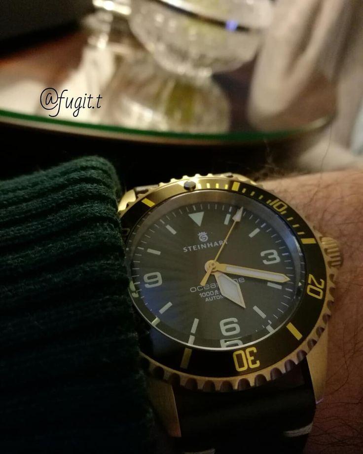 Steinhart Ocean one bronce #watchesofinstagram #steinhartwatches #chronographgram#watchporn #instawatch#chronograph #igerswatch#time#tempusfugit #relojes #montres #orologio#uhr #mechanic #pilot #black#pvd #wristwatch #reloj #jaguar #watchporn#time#watchfan#watchaddict #steinhartwatchesofficial