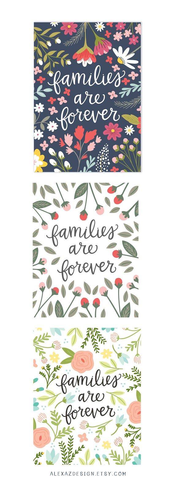 families are forever prints from alexazdesign