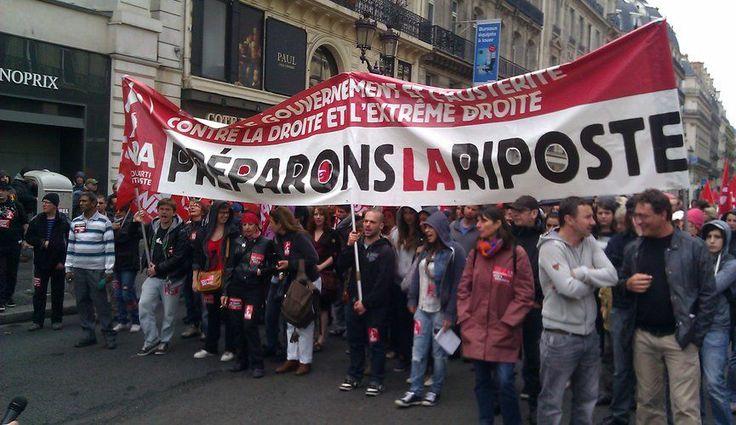 Le Kiosque aux Canards Manifs contre l'extrême-droite aujourd'hui en France-2014/05/29-Plusieurs manifestations, en province et à Paris, se déroulaient ce jeudi, à l'appel de plusieur