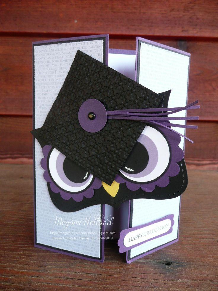 Megumi's Stampin Retreat: Mr. Owl Happy Graduation Card