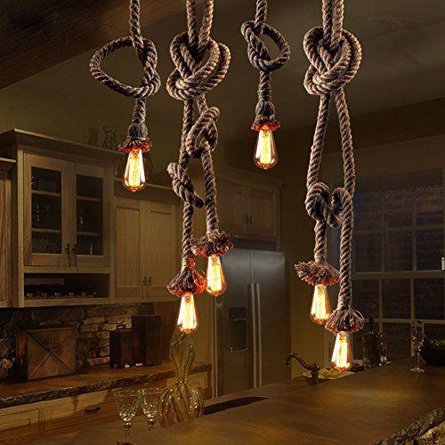 LSD® Vintage Indoor Restaurant Pendant Lights Living Room Bedroom Retro Industrial Hemp Rope Bar Lighting Chandelier Lamps (2 Meter 2 Head) LSD http://www.amazon.com/dp/B018QXLUD8/ref=cm_sw_r_pi_dp_cHb4wb011B9JX