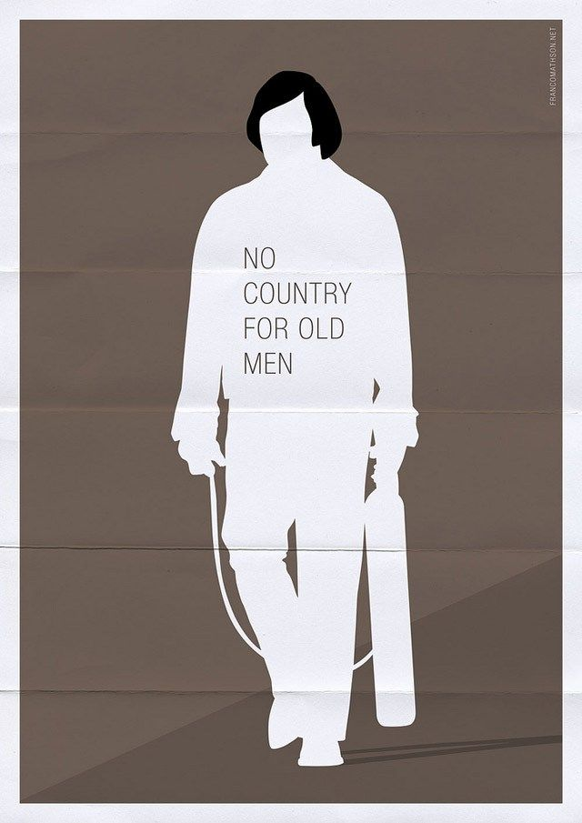 no country for old men1 48 Minimal Movie Poster Designs