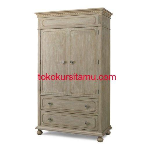 Lemari Baju Anak Minimalis Rustic K-9LPA terbuat dari material kayu mahoni yang memiliki tampilan klasik dengan balutan finishing rustic yang cantik.