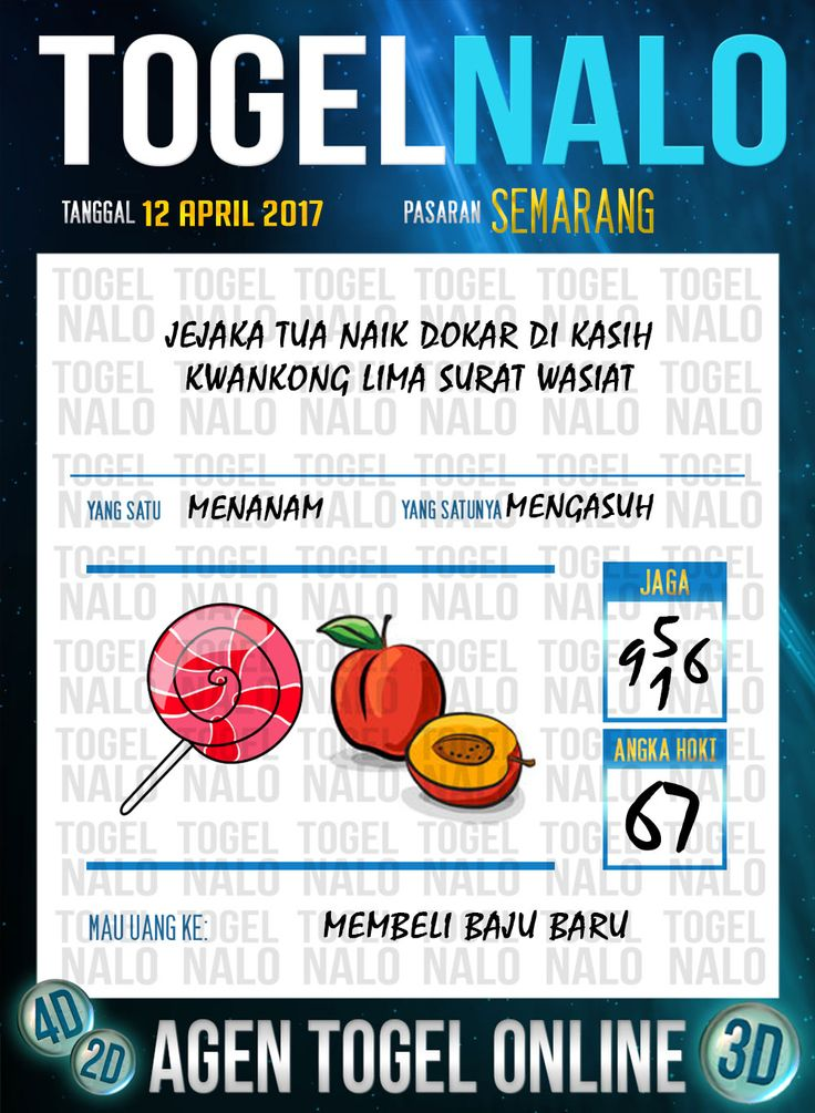 Angka Kuat 5D Togel Wap Online TogelNalo Semarang 12 April 2017