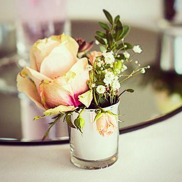 Vintage rose votives from Floral Dreams #weddingweek  Photo courtesy of makowskiphotography.co.uk
