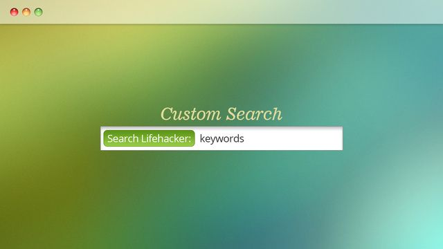 Five Custom Searches You Should Enable In Your Browser Right Now - from Life Hacker site