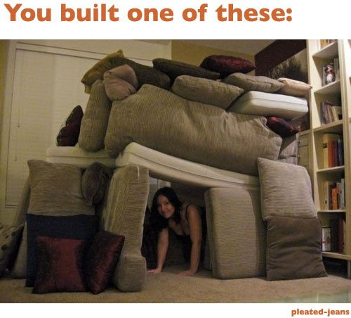 11 things that prove you had a great childhoodMake Pillows, Childhood Memories, Living Room, Blankets Cont, Funny Bones, Funny Stuff, Fun Things, Pillows Forts, Funneh Stuff