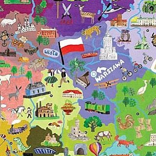 14 days to go until our big #Adventure in #Poland 🇵🇱 ✈️ #Warsaw #Krakow #EasternEurope #Holiday #Trip #Explore #Discover #Auschwitz #History #Europe #Warszawa #Polska #Map #Illustration #Colourful  #Infographic #100HappyDays #Day88 -not my image-