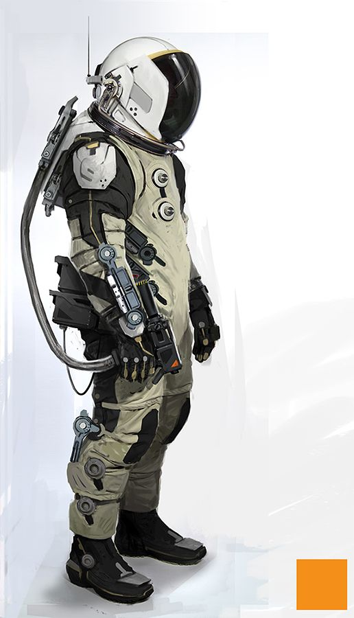 Futuristic space suit space armor pinterest spaces for Space suit design