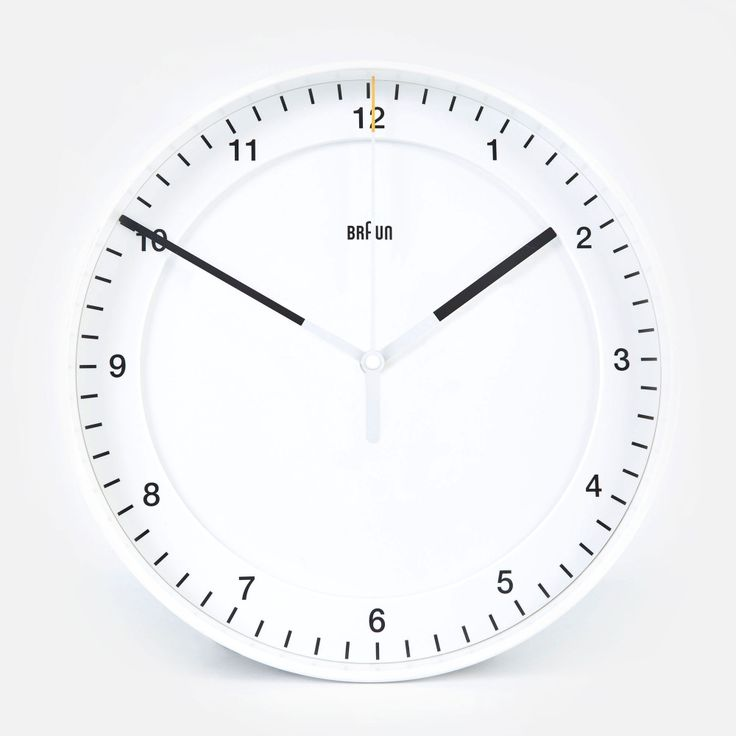 Large White Clock Part - 22: Braun 30cm Large Wall Clock - White (Image 1)