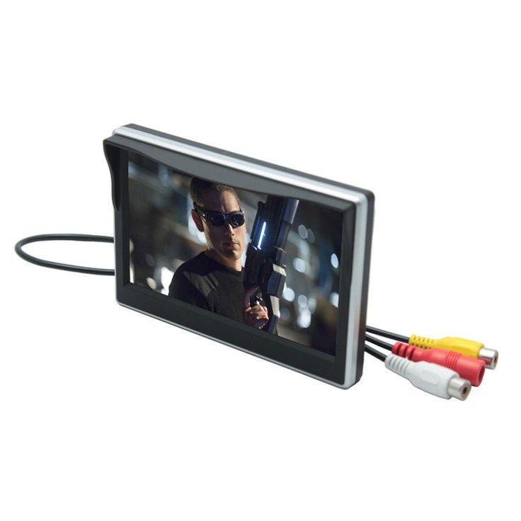 デジタルtft液晶フルhd 2ウェイavで逆プライオリティ5インチ車のモニターバックアップリアビューカメラ