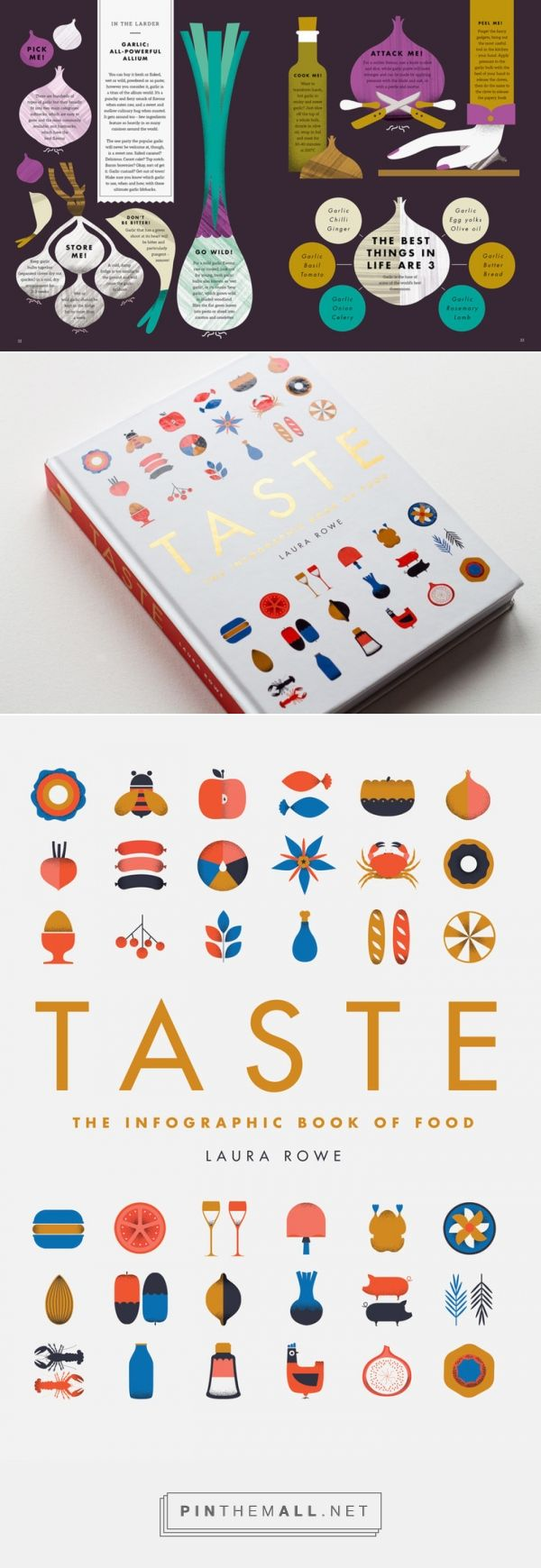 TASTE. THE INFOGRAPHIC BOOK OF FOOD. Illustrations by Vicki Turner.