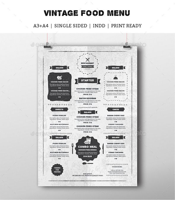 vintage food menu indesign template drinks menu rustic sketch download https. Black Bedroom Furniture Sets. Home Design Ideas