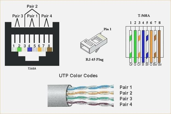 Cat 5 Wiring Diagram 568b 4 To Cable At  U2013 Wiring Design