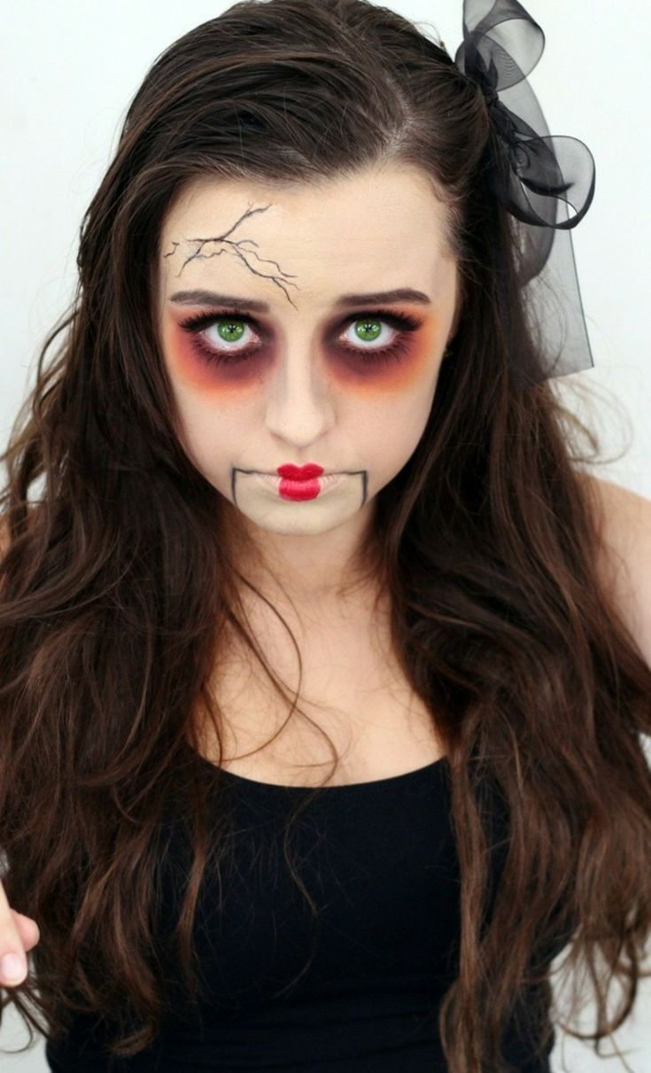 How to Creepy Doll Costume Click for