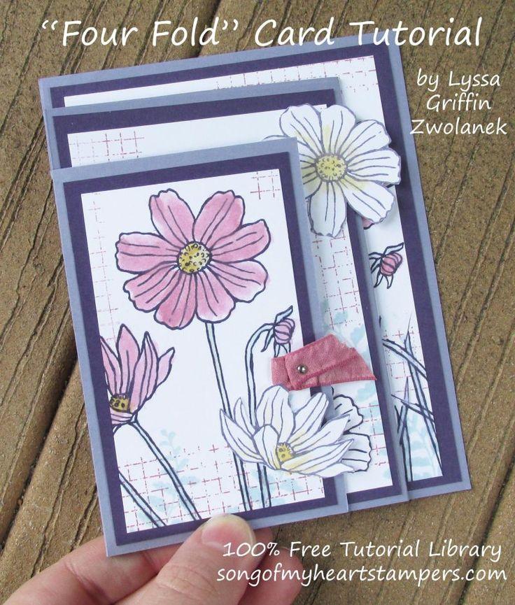 Fourfold Four fold card Stampin Up DIY cardmaking tutorial