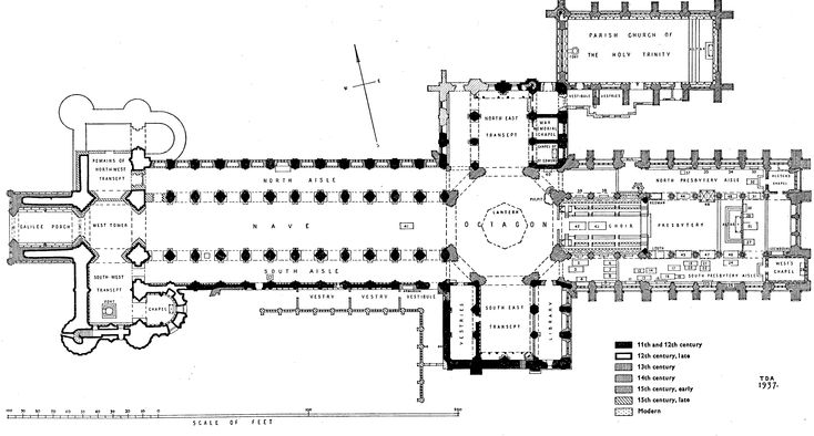 Plan | Cathedral Church of the Holy and Undivided Trinity, Ely | City of Ely: Cathedral | British History Online