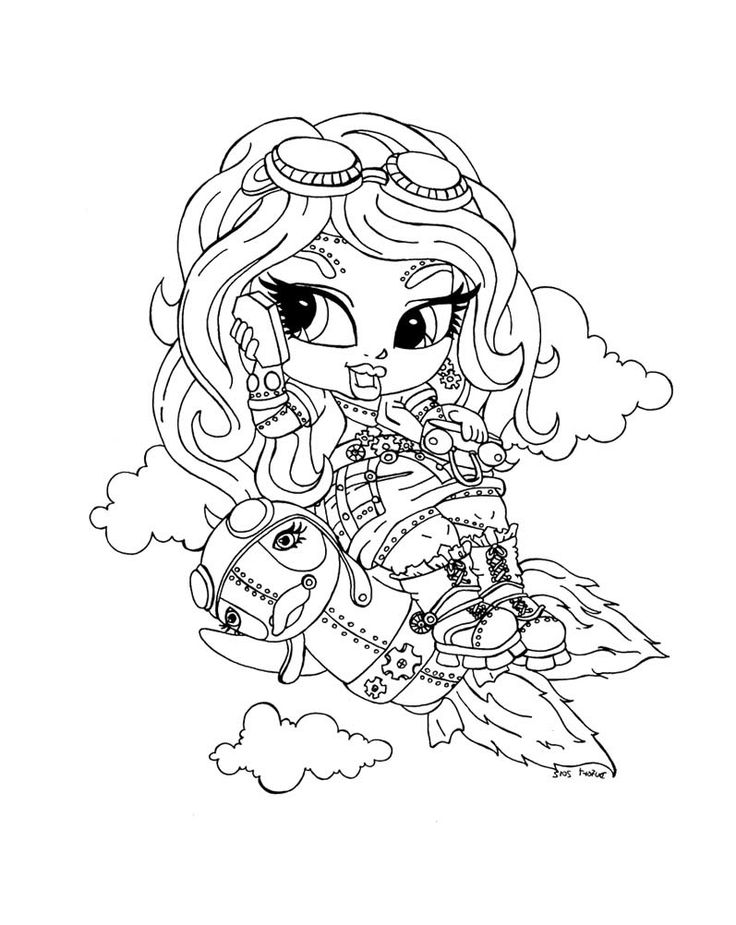 small monster high coloring pages - photo#21