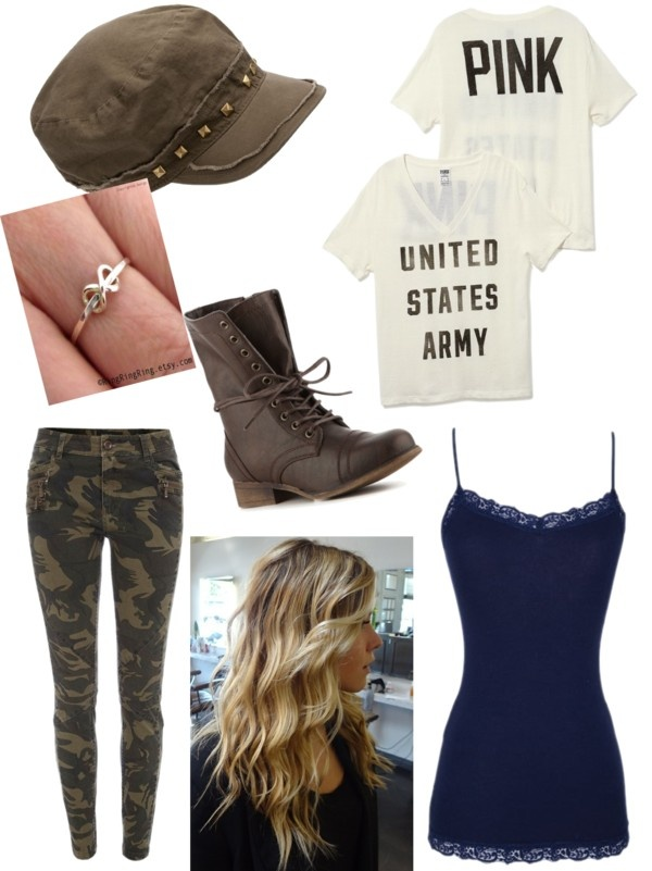 """Army Boyfriend come home performance"" by mary-glueckert ❤ liked on Polyvore"