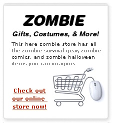 Keep fresh in these cool zombie threads. From zombie hats and hoodies to zombie shirts and socks. Note: We in no way guarantee that this zombie clothing will continue to be fashionable upon the zombie apocalypse.
