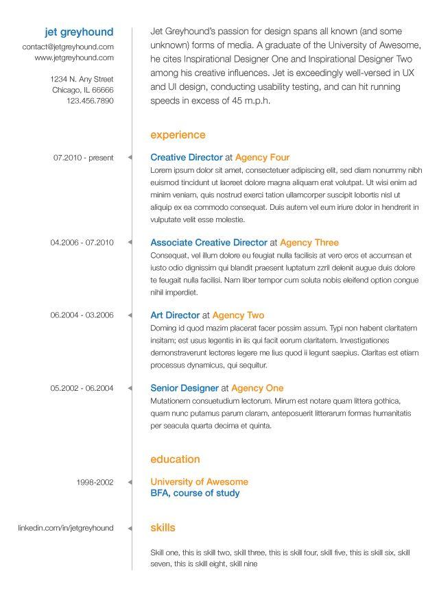 40 Best Resume & Letterhead Design Images On Pinterest Resume