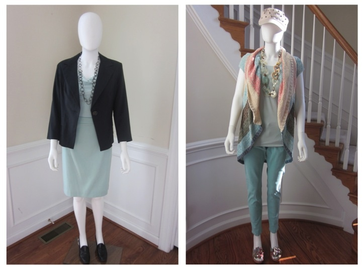 It's the weekend and time to transition from work wear to casual wear. See how easy it it with a few changes. Work outfit: Bossy Blazer, backwards Flip It Tee, Jordan Almond Skirt. Casual outfit: Line Up Vest, Flip It Tee, and Thin Mint Jeggings. All you have to do is switch out your layering piece, bottom and shoes and you have a brand new look!