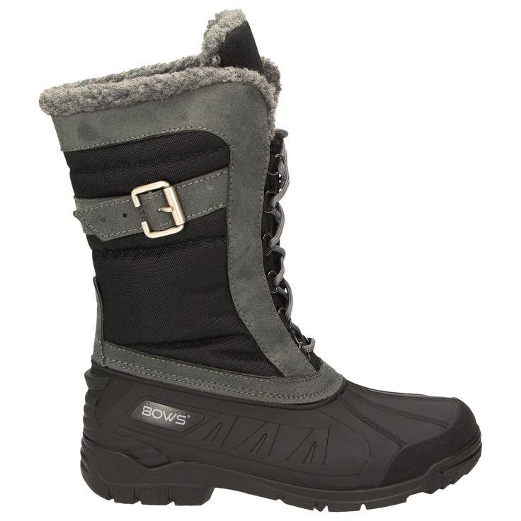 BOWS® -SUSI- Winterstiefel Damen Schnee Stiefel Snow Schuhe Winterboots warm gefüttert wasserdicht wasserabweisend Schuhgröße: 41 Damenschuhe Stiefel und Stiefeletten Winterstiefel