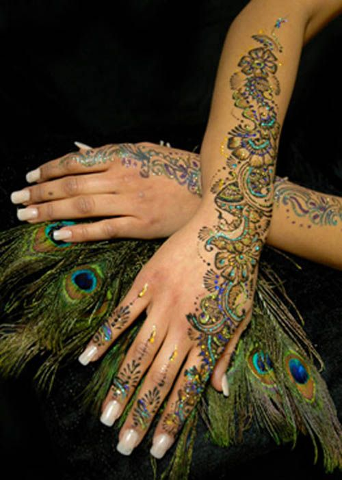 9 Best Glitter Mehndi Designs