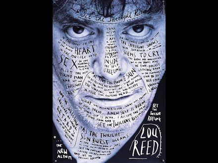 Stefan Sagmeister - [Designmuseum] - Poster for Lou Reed's Set the Twilight Reeling, 1996