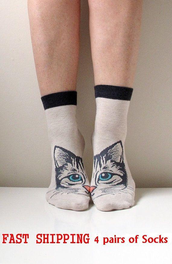 Boot Socks Women Socks Leg Warmer Christmas Socks Boot Socks Cat Socks Ladies Casual Cotton Socks Ankle Socks par ScarfLovers sur Etsy https://www.etsy.com/fr/listing/212455269/boot-socks-women-socks-leg-warmer