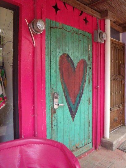 pretty heart door in Sayulita, Mexico