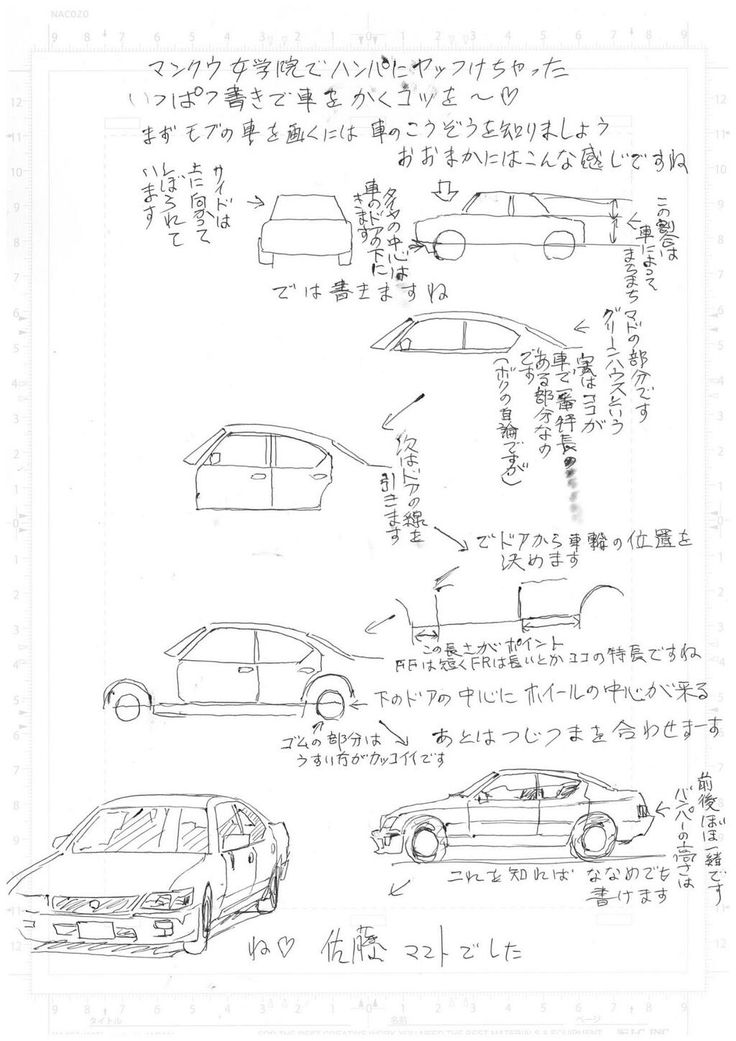 なんと佐藤マコト先生が漫画空間で車の描き方をレクチャーしてださいました…。その場にいたお客様、ラッキーでしたね! アンラッキーな皆様へ!先生の手書き、車の描き方を公開しますよ~~!!(ア)