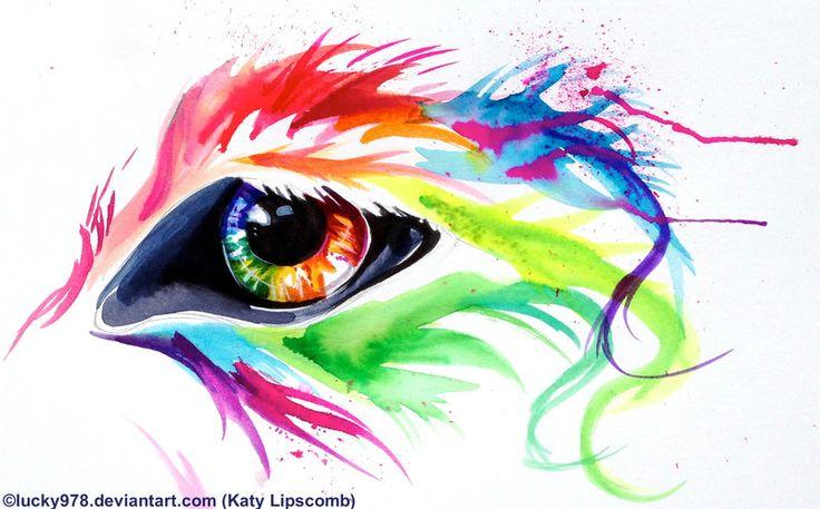 Rainbow Wolf Eye by Lucky978.deviantart.com on @deviantART