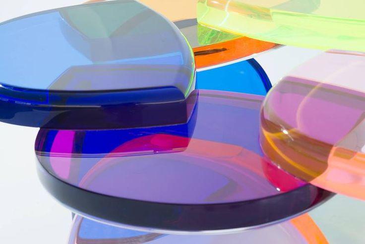 Színes üveg asztallap