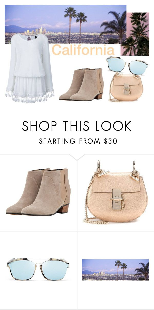 california dreamin by slounis on Polyvore featuring moda, Golden Goose, Chloé, Christian Dior, women's clothing, women's fashion, women, female, woman and misses