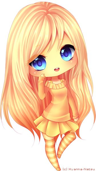 Soft-chibi commission for AmberCat220 oh woh~ so yellow~ 9 u 9'I hope you like it ^^''' - - - Made in Paint Tool Sai Art (c) Hyanna-Natsu Character (c) AmberCat220