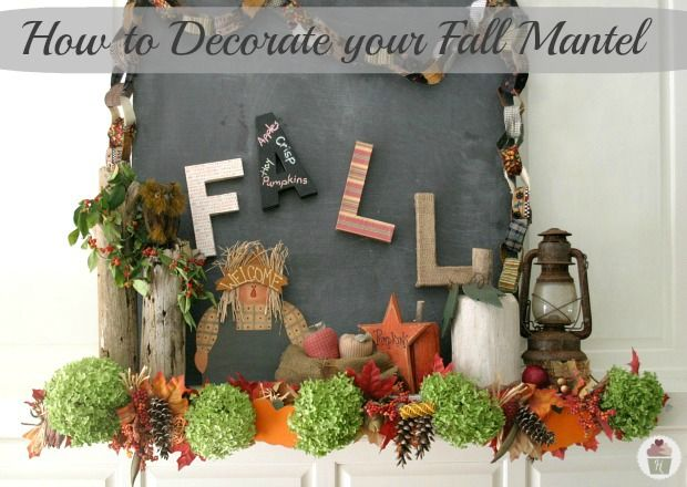 How to Decorate your Fall Mantel :: HoosierHomemade.com