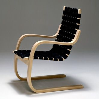 Alvar Aalto Finland, 1933 This armchair, and others like it, stem from Aalto's Armchair 41, designed in 1930. Armchair 406