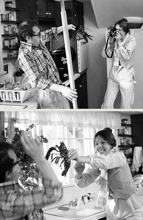 annie, alvy and the lobsters (Annie Hall the first Woody Allen's movie I've seen in my twenties, it transformed me for life and made me a deep fan of this couple)