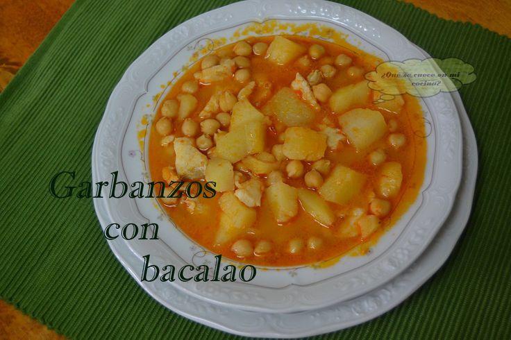 @Quesecuece  para #RecetarioMañoso ¿Que se cuece en mi cocina?: GARBANZOS CON BACALAO