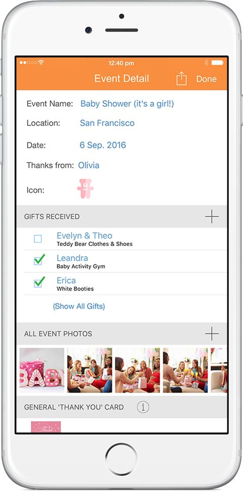 OurGifts app lets you track your gifts as you receive them