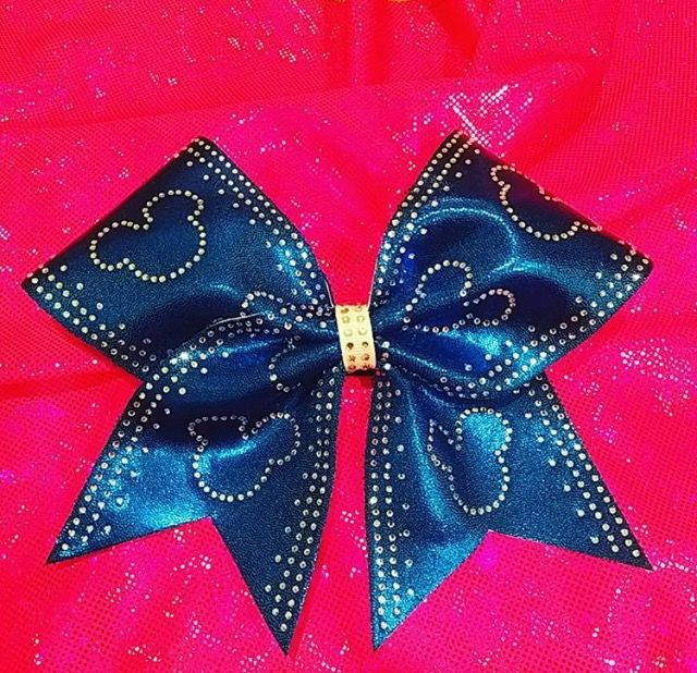 Worlds Summit Mickey Minnie Cheer Bow by Just Cheer Bows