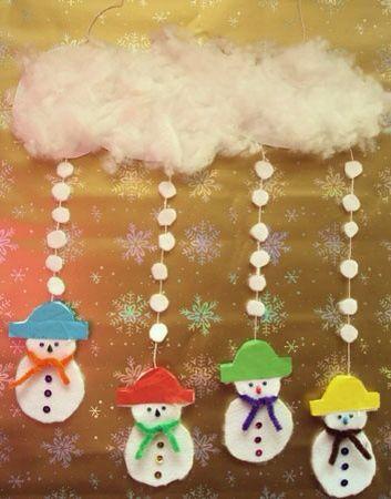 Móvil muñeco nieve