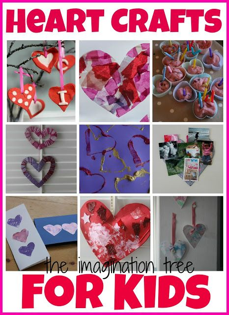 A collection of heart themed crafts and activities for kids of all ages!